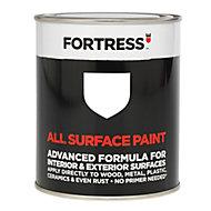 Fortress White Gloss Multi-surface paint, 250ml