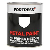 Fortress White Satin Metal paint, 0.25L