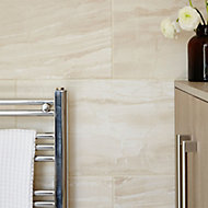 Fossilised Beige Matt Stone effect Porcelain Wall & floor Tile, Pack of 6, (L)300mm (W)600mm
