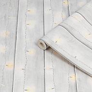 Fresco Grey Twinkle lights Smooth Wallpaper