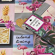 Fresco Island living Multicolour Smooth Wallpaper