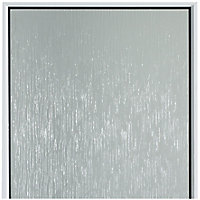Frosted Fully glazed White uPVC LH External Back Door set, (H)2055mm (W)840mm