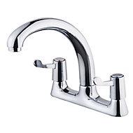 Galleny Chrome effect Kitchen Deck Mixer tap