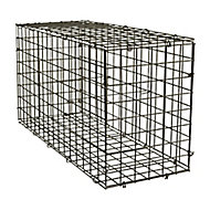 Galvanised Steel Gabion kit, (H)40cm (W)0.8m