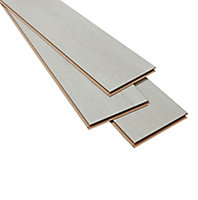 Geelong Grey Gloss Oak effect Laminate Flooring Sample