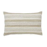 Gemme Space dyed & rug stripe Light brown Cushion (L)30cm x (W)50cm
