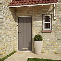 Geom Cottage Primed White LH & RH External Front Door, (H)1981mm (W)762mm