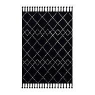Geometric Black & white Rug (L)1.7m (W)1.2m