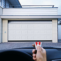 Georgian Made to measure Framed White Sectional Garage door