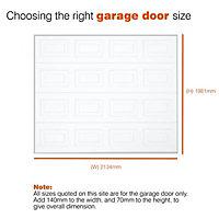 Georgian Sectional Garage door, (H)1981mm (W)2134mm