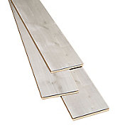 Gladstone Grey Gloss Oak effect Laminate Flooring Sample
