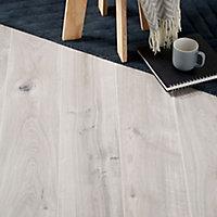 Gladstone Grey Oak effect High-density fibreboard (HDF) Laminate Flooring Sample