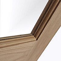 Glazed Traditional Oak veneer LH & RH Internal Door, (H)1981mm (W)686mm