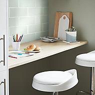 Glina Green Gloss Ceramic Wall Tile, Pack of 34, (L)297mm (W)97mm