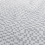 Glina Grey Glass Mosaic tile sheets, (L)300mm (W)300mm