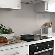 Glina Grey Gloss Ceramic Wall Tile, Pack of 34, (L)297mm (W)97mm