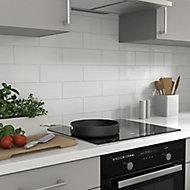 Glina Square White Gloss Ceramic Wall Tile Sample