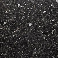 Gloss Black Worktop edging strip, (L)1.5m