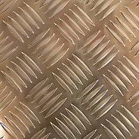 Gold effect Aluminium Textured Sheet, (H)1000mm (W)500mm (T)1.7mm