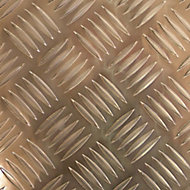 Gold effect Aluminium Textured Sheet, (H)1000mm (W)500mm (T)1.7mm