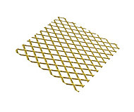 Gold effect Anodised Aluminium Perforated Sheet, (H)500mm (W)250mm (T)0.8mm