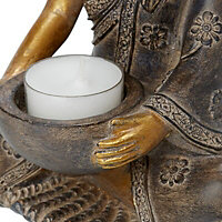 Gold effect Resin Tea light holder
