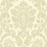 Gold Kensington Gold effect Textured Wallpaper
