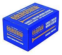 Goldscrew Yellow zinc-plated Carbon steel Wood Screw (Dia)5mm (L)80mm, Pack of 100