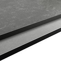 GoodHome 12mm Nepeta Matt Grey Paper & resin Square edge Kitchen Worktop, (L)2000mm