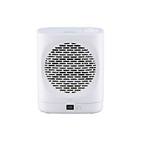 GoodHome 2000W White Freestanding Fan heater