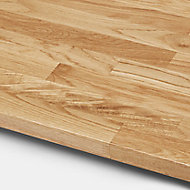 GoodHome 26mm Kava Natural Solid oak Square edge Kitchen Worktop, (L)3000mm