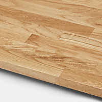 GoodHome 26mm Kava Natural Solid oak Square edge Kitchen Worktop, (L)3000mm