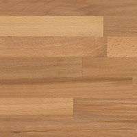 GoodHome 27mm Kava Natural Solid beech Square edge Kitchen Worktop, (L)3000mm