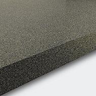 GoodHome 38mm Berberis Gloss Grey Glitter effect Laminate & particle board Square edge Kitchen Breakfast bar, (L)2000mm