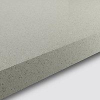 GoodHome 38mm Berberis Gloss White Glitter effect Laminate & particle board Square edge Kitchen Breakfast bar Breakfast bar, (L)2000mm