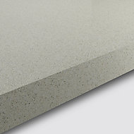GoodHome 38mm Berberis Gloss White Glitter effect Laminate & particle board Square edge Kitchen Worktop, (L)3000mm