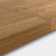 GoodHome 38mm Kala Matt Honey Wood effect Chipboard & laminate Square edge Kitchen Worktop, (L)3000mm