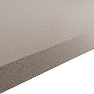 GoodHome 38mm Kala Matt Light Quartz Quartz effect Laminate & particle board Square edge Kitchen Breakfast bar Breakfast bar, (L)2000mm