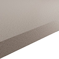 GoodHome 38mm Kala Matt Light Quartz Stone effect Laminate & particle board Square edge Kitchen Worktop, (L)3000mm