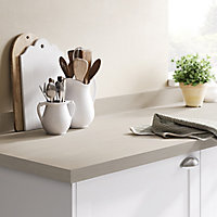 GoodHome 38mm Kala Matt White Wood effect Laminate & particle board Square edge Kitchen Worktop, (L)3000mm