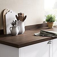 GoodHome 38mm Kala Matt Wood effect Laminate & particle board Square edge Kitchen Breakfast bar Breakfast bar, (L)2000mm