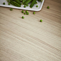 GoodHome 38mm Kala Matt Wood effect Laminate & particle board Square edge Kitchen Worktop, (L)3000mm