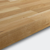 GoodHome 40mm Hinita Matt Natural Solid oak Square edge Kitchen Breakfast bar Breakfast bar, (L)2000mm