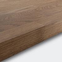 GoodHome 40mm Hinita Natural Solid oak Square edge Kitchen Breakfast bar Breakfast bar, (L)2000mm