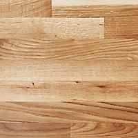 GoodHome 40mm Hinita Natural Solid oak Square edge Kitchen Island Island worktop, (L)1800mm