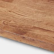 GoodHome 40mm Hinita Stained Dark wood effect Solid oak Square edge Kitchen Worktop, (L)3000mm