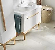 GoodHome Adriska Natural Ash Vanity unit feet (H)260mm (W)1000mm