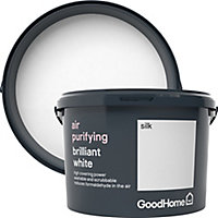 GoodHome Air purifying Brilliant white Silk Emulsion paint 2.5L