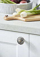 GoodHome Ajika Pewter effect Steel Round Cabinet Handle (L)45mm, Pack of 2