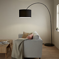 GoodHome Alacrane Matt Black Floor light